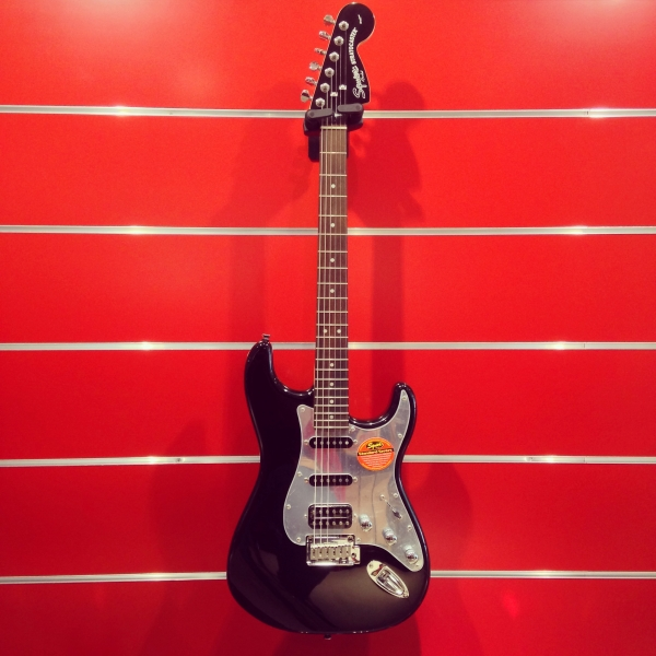 Fender Squier Black and Chrome Stratocaster